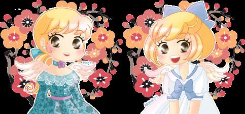 Chibi Violette et Muscari