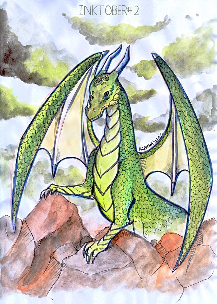 Inktober2-dragon