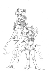super sailor moon et super sailor chibi moon